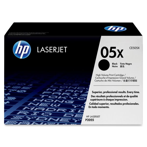 HP 05X Black High Yield Toner Cartridge (CE505X)