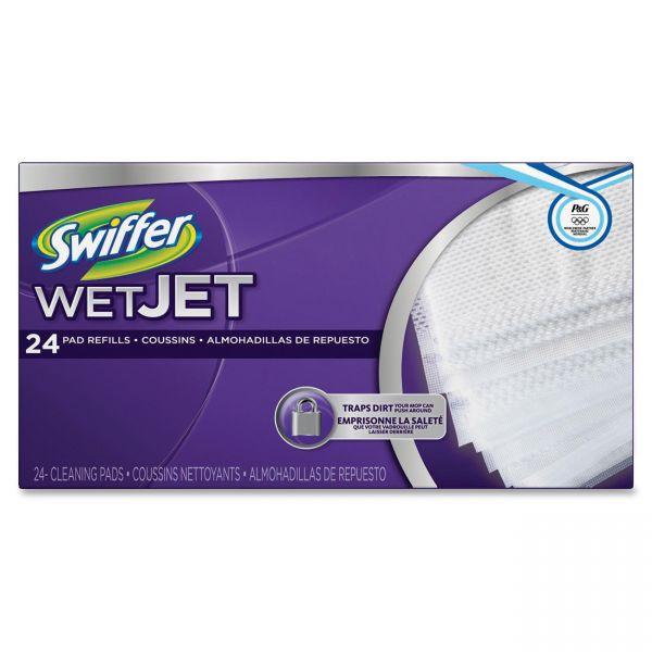 "Swiffer WetJet System Refill Cloths, 11.3"" x 5.4"", White, 24/Box, 4/Ctn"