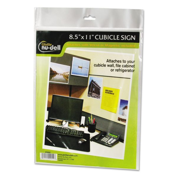 NuDell Clear Plastic Sign Holder