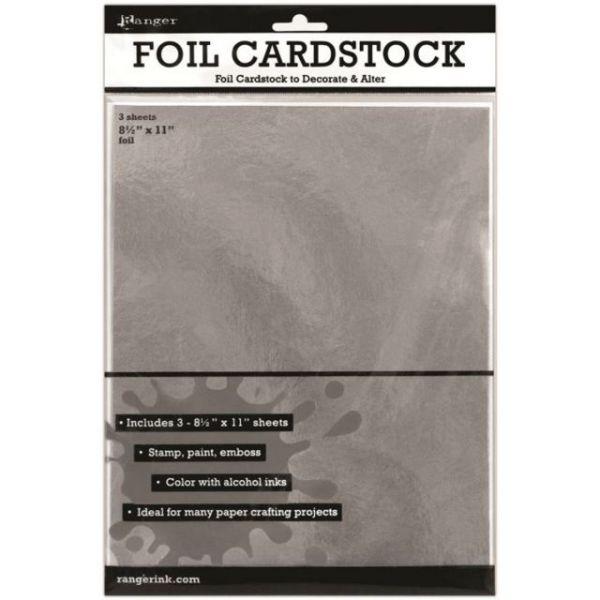 Ranger Surfaces Silver Foil Cardstock 3/Pkg