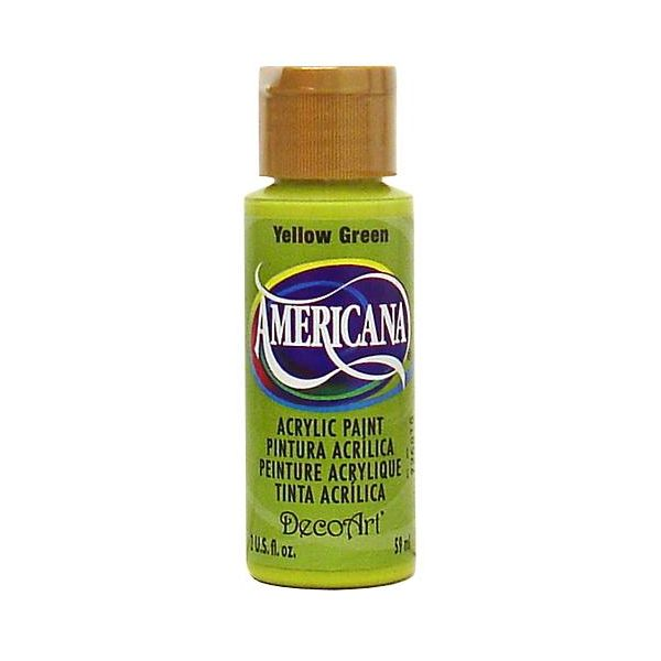 Deco Art Americana Yellow Green Acrylic Paint