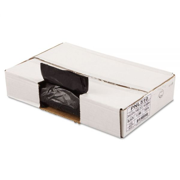 Penny Lane Linear Low Density Can Liners, 1mil, 24 x 32, Black, 10 Bag/Roll, 15 Roll/CT