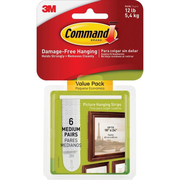 Command Medium Picture Value Pack Hanging Strips