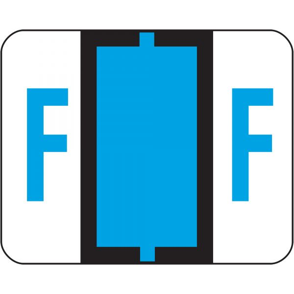 Smead BCCR Bar-Style Color-Coded Alphabetic Label - F