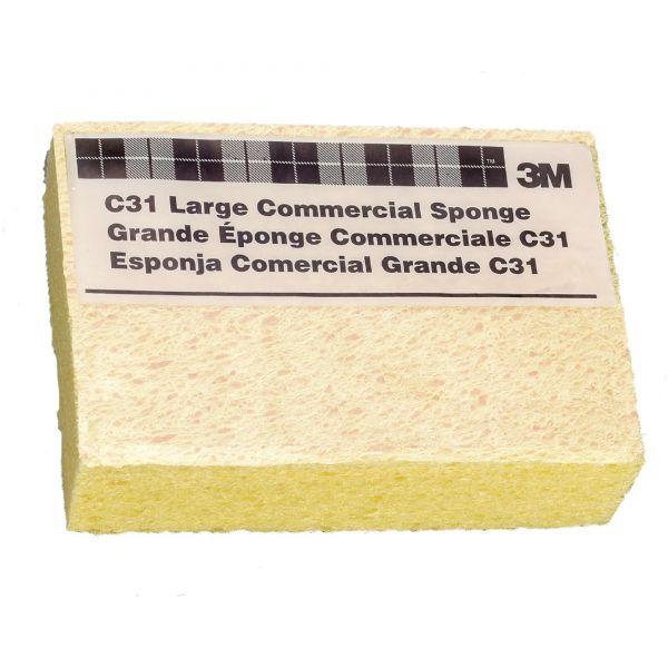 3M Commercial Cellulose Sponge, Yellow, 4 1/4 x 6