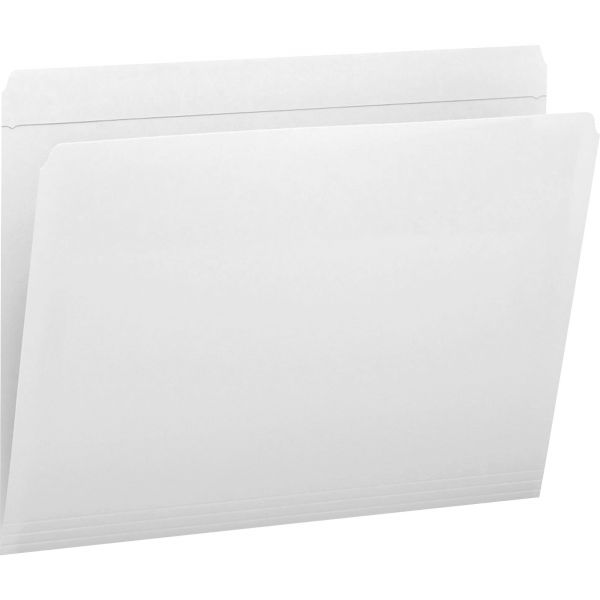 Smead 12810 White Colored File Folders with Reinforced Tab