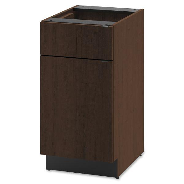 HON Hospitality Single Base Cabinet, Door/Drawer, 18w x 24d x 36h, Mocha