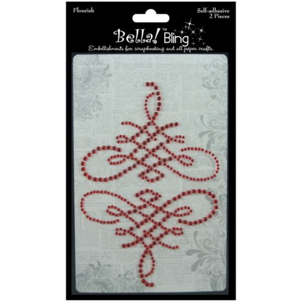Bling Self-Adhesive Rhinestone Flourish 2/Pkg