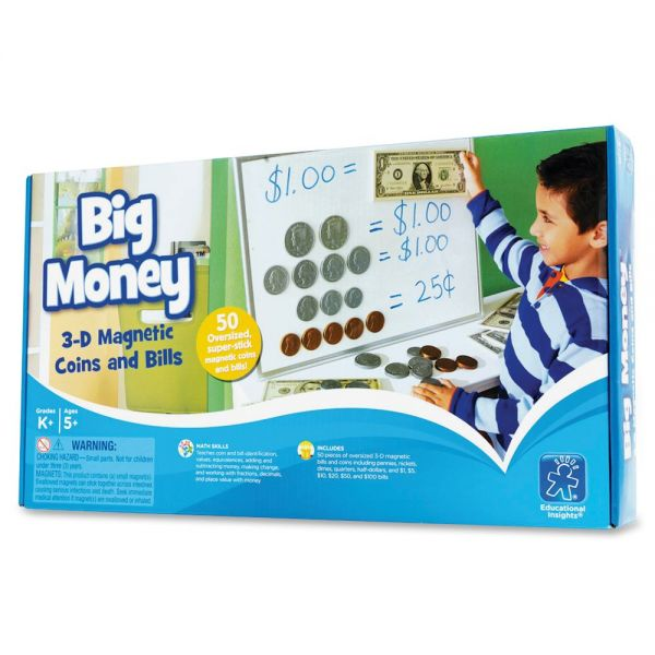 Educational Insights Kid Learning Magnetic Coin/Bill