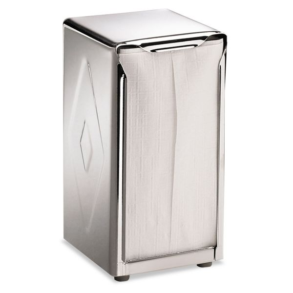 San Jamar Tabletop Napkin Dispenser, Tall Fold, 3 3/4 x 4 x 7 1/2, Capacity: 150, Chrome