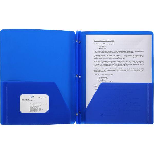 Business Source 3-Prong Two-Pocket Folder