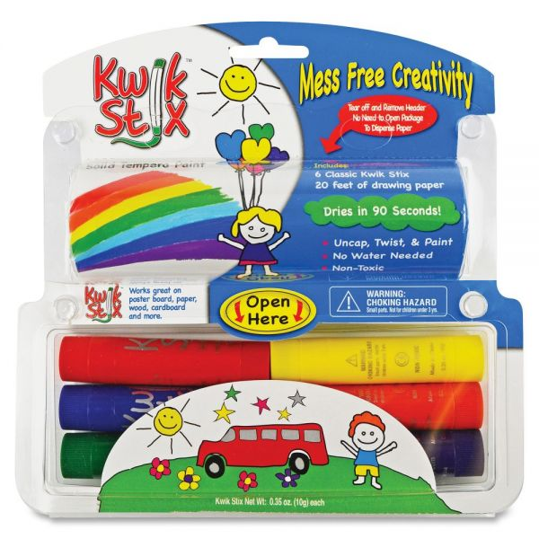 The Pencil Grip Pencil Grip Kwik Stix Tempera Paint/Paper Set