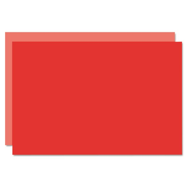 Eco Brites Too Cool Foam Board, 20x30, Light Red/Red, 5/Carton