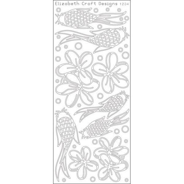 Koi Fish & Flowers Peel-Off Stickers