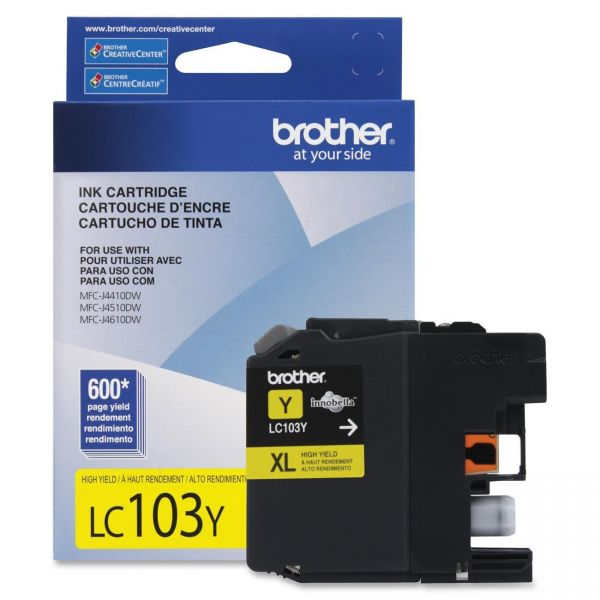 Brother LC103Y Yellow High Yield Ink Cartridge