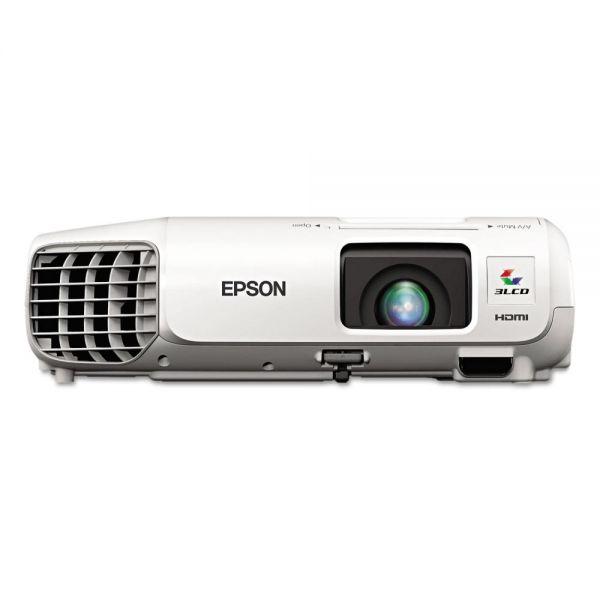 Epson PowerLite X27 XGA 3LCD Projector, 2700 Lumens, 1024 x 768 Pixels, 1.2x Zoom