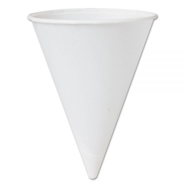 SOLO Cup Company Treated Paper 4.25 oz Cone Water Cups