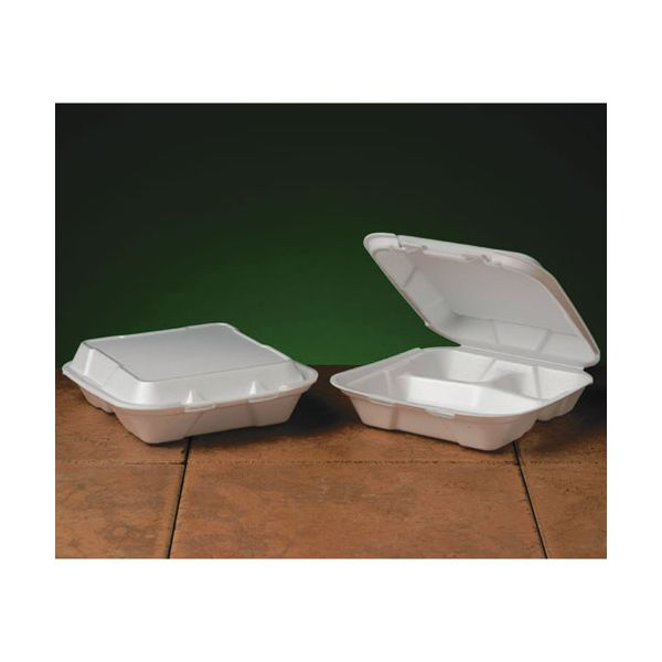 Genpak Snap It Small Takeout Foam Clamshell Food Containers