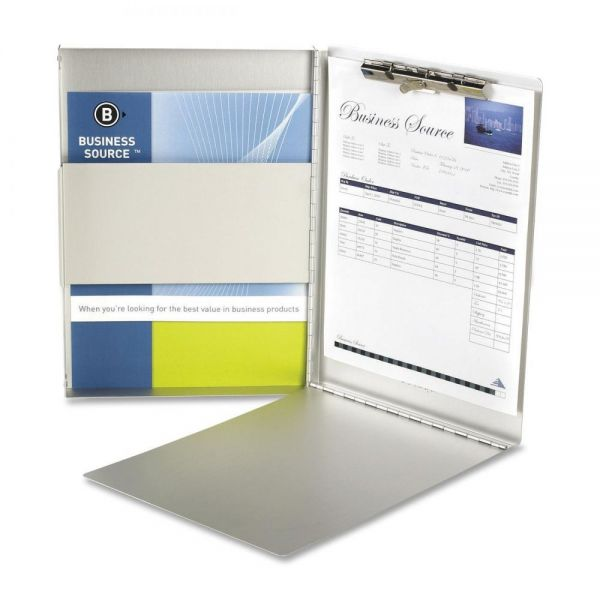 Business Source Side-Opening Aluminum Storage Clipboard