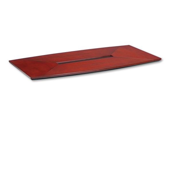 Tiffany Industries Corsica Boat Shape Conference Table Top, 72w x 36d, Sierra Cherry