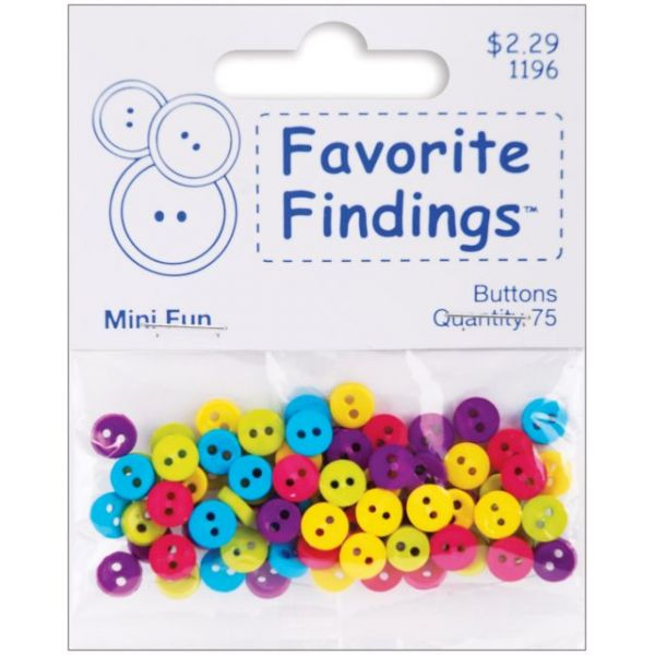 Favorite Findings Mini Buttons 75/Pkg