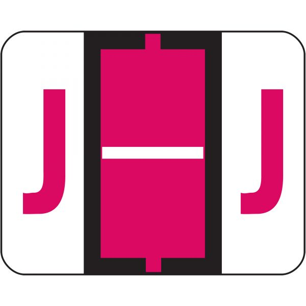 Smead BCCR Bar-Style Color-Coded Alphabetic Label - J