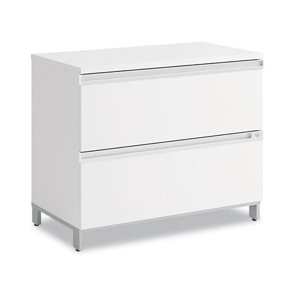 Bush Momentum Collection Mobile Two-Drawer Lateral File, White