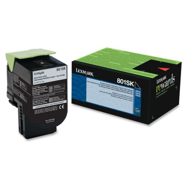Lexmark 801SK Black Return Program Toner Cartridge (80C1SK0)