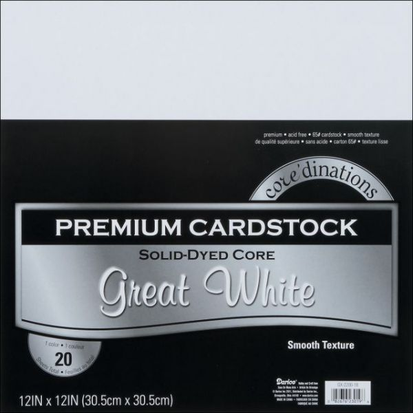 Core'dinations Premium Smooth Great White Cardstock