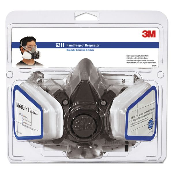 3M Half Facepiece Paint Spray/Pesticide Respirator, Medium