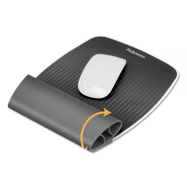 Fellowes I-Spire Wrist Rocker Mouse Pad w/Wrist Rest, 7 13/16 x 10 x 1 1/16, Gray