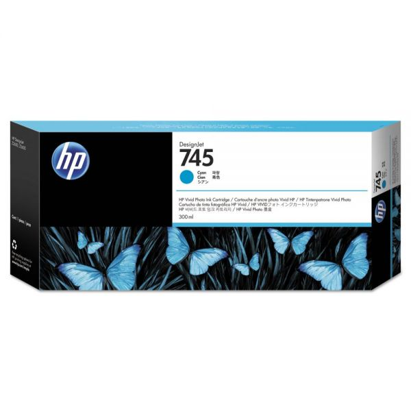HP 745 Cyan Ink Cartridge (F9K03A)