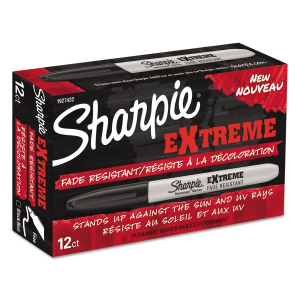 Sharpie Extreme Fine Point Black Permanent Markers