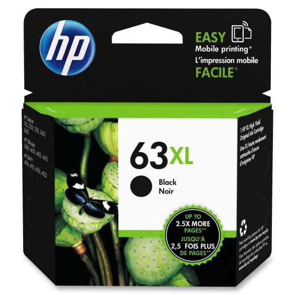 HP 63XL High-Yield Black Ink Cartridge (F6U64AN)