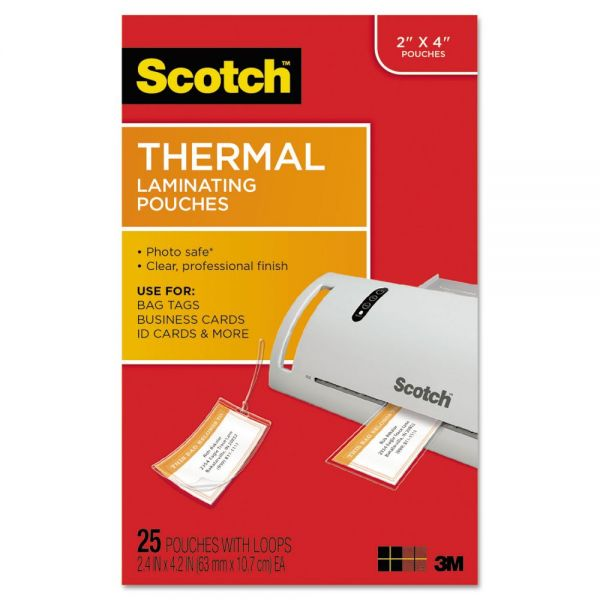 Scotch Thermal Luggage Tag Laminating Pouches