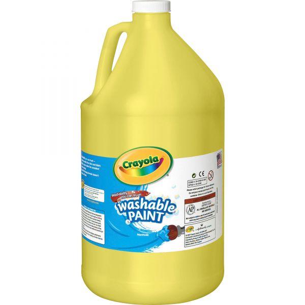 Crayola Washable Paint, Yellow, 1 gal