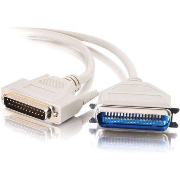 C2G 6ft DB25 Male to Centronics 36 Male Parallel Printer Cable