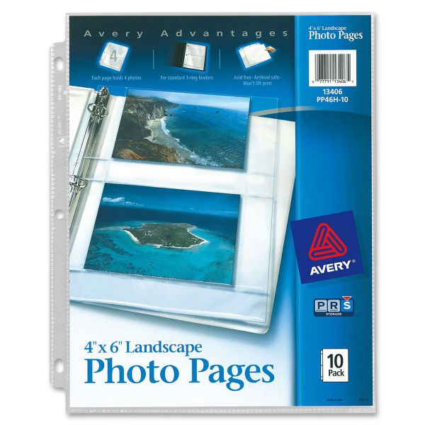 """Avery Landscape 4""""x6"""" Photo Pages"""