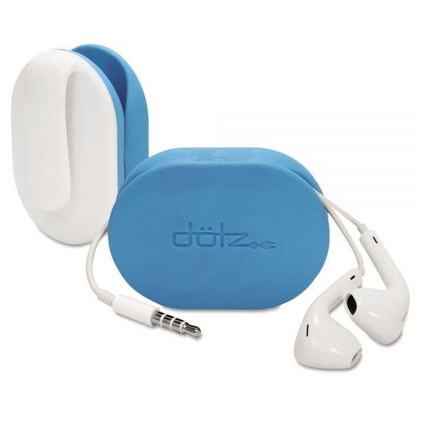 Dotz Flex Earbud Wrap w/Belt Clip, Cyan