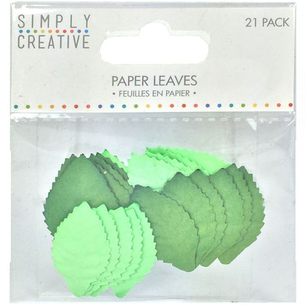Simply Creative Blossoms Paper Leaves 21/Pkg