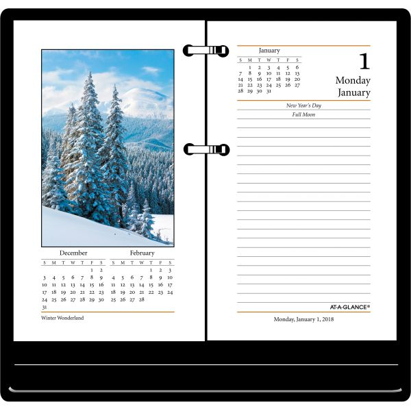 AT-A-GLANCE Photographic Desk Calendar Refill, 3 1/2 x 6, 2019
