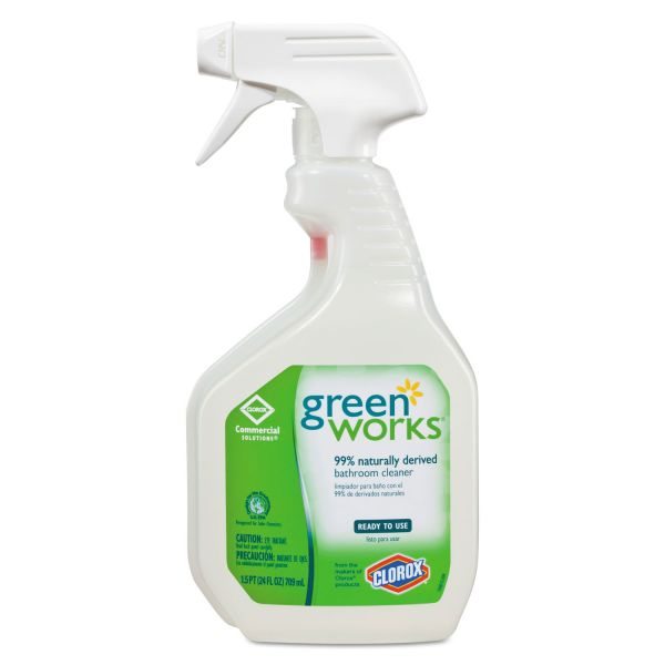 Green Works Bathroom Cleaner, 24oz Spray Bottle