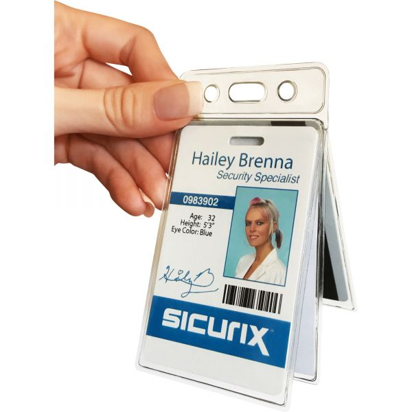 SICURIX Vinyl Two-Card Badge Holder