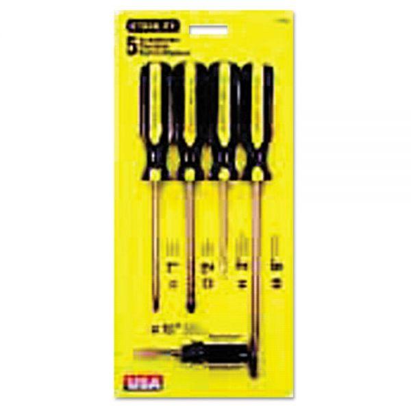 Stanley Tools 5-Piece 100 Plus Combination Screwdriver Set