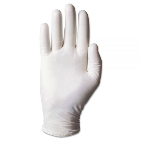 AnsellPro Dura-Touch 5-Mil PVC Powdered Gloves, Medium, Clear, 100/Box