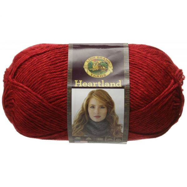 Lion Brand Heartland Yarn - Redwood