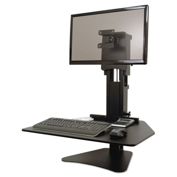 Victor High Rise Adjustable Sit-Stand Workstation, 28 x 23 x 15 1/2, Black
