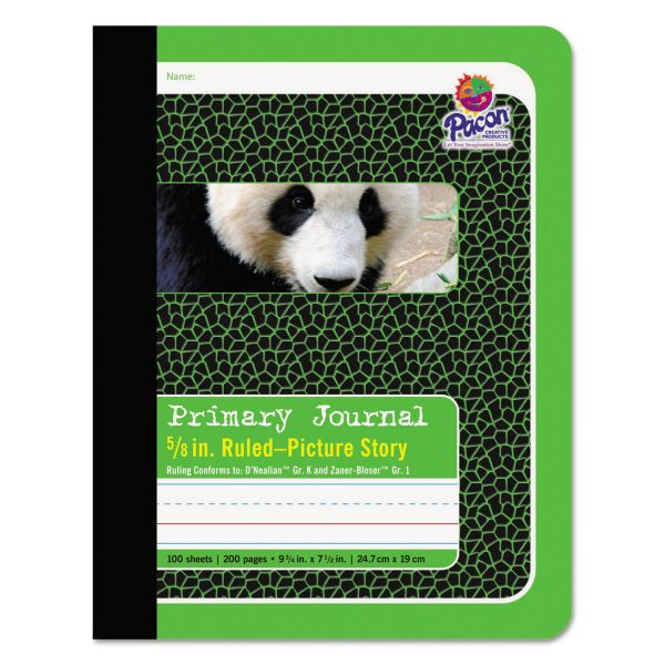 Pacon Primary Journal, 5/8 Ruling, 9 3/4 x 7 1/2, 100 Sheets