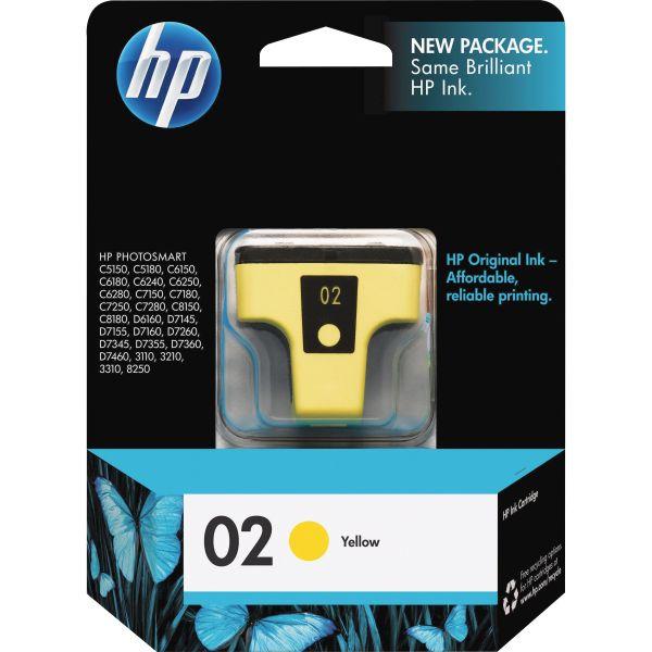 HP 02 Yellow Ink Cartridge (C8773WN)