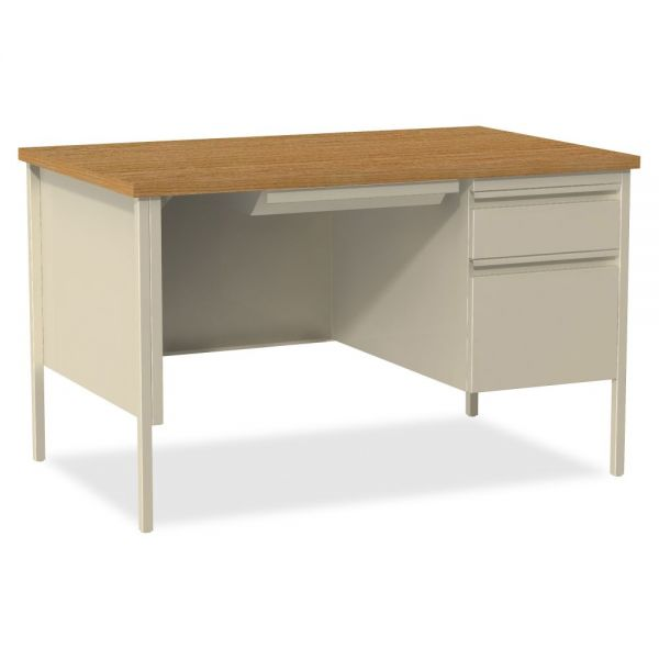 Lorell Fortress Series Right Single-Pedestal Computer Desk